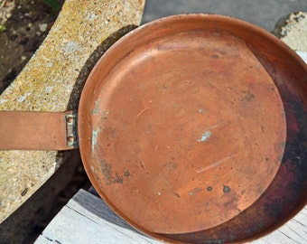 Copper Fry Pan Vintage Cookware