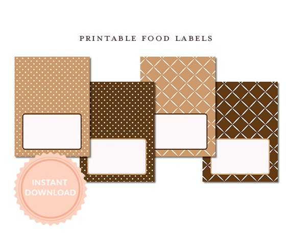 INSTANT DOWNLOAD,  Printable Blank Tent Cards, Milk and Cookies Shower, Brown