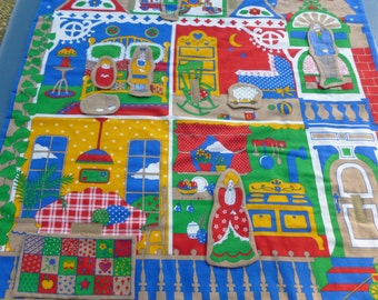 Child's wall hanging with removable figures