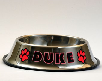 Custom Personalized Dog Bowl - Stainless Steel Dog Food Pet Bowls with Your Dogs Name - Great Gift
