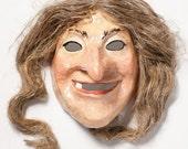 Paper mache witch mask