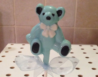 TEDDY BEARS Chocolate Lollipops, Baby Shower Favors, All Colors Available