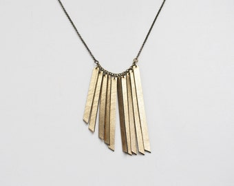 Gold necklace, leather necklace, gold leather, minimal necklace, geometric necklace, boho necklace, summer trends, gift for her