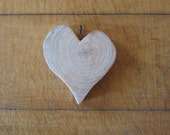 One of a Kind Wooden Heart Shaped Pendant Handcrafted Original
