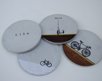 Concrete Coasters: Bike Series