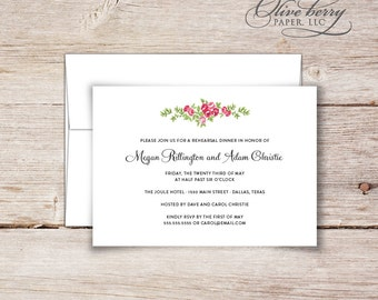 Chevron Rehearsal Dinner Invitations