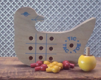 Tic Tac Toe Wooden Child Game