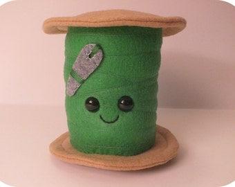 Thread Spool Plush - Green