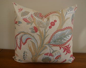 Floral Pillow Cover / 20x20 inches