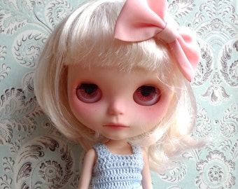 SALE % Blue Ballerina Crochet and Tulle Blythe Dress | Pullip Dress