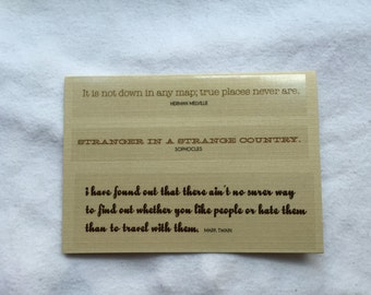 Passport Cover Traveling Quotes Passport Cover (#154)