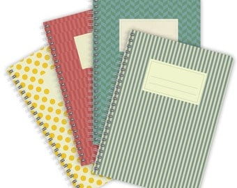 Set of 4 Notebooks A5 – Colorful Patterns