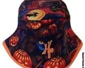 Unisex Halloween Motif Orange-base Bucket Hat by Hamlet Pericles