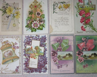 FREE SHIPPING Eight Victorian Easter Postcards