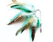 Feather Ear Cuff - Mint