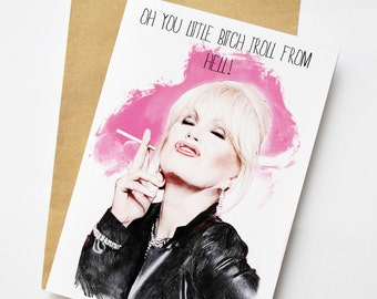 Absolutely Fabulous Patsy Stone Abfab illustration Greeting Card