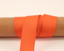 Orange ribbon- 50 Yards - 7/8 Inch Wide Grosgrain - party wedding favors, hair bows, scrapbooking