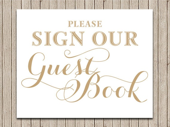 Mesmerizing image throughout please sign our guestbook printable
