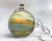 ArtClix Magnetic Interchangeable Pendant with Van Gogh Themed Charm Insert