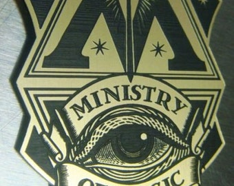 Custom Ministry Of Magic AUROR'S Badge HARRY POTTER Auror Wizard