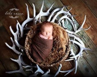 Stretch wrap - 'GOLDEN BRONZE' newborn stretch wrap  / scarf - prop blanket - knitbysarah - Stitches by Sarah