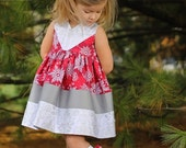 Maggie's Perfect Color Block Dress and Tunic PDF Sewing Pattern sizes 6/12 months to 8 girls