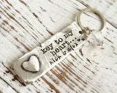Personalized Key To My Heart Key Chain . Personalized Key . Custom Key Chain . Engraved Key Chain . Personalized Jewelry . Stamped Jewelry