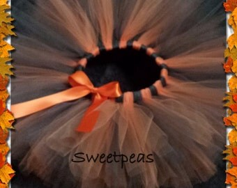 Brown and Orange Tutu Girls sizes 6-14