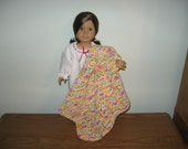 "Hand-crocheted bright multicolor Afghan Blanket for 18"" American Girl Dolls"