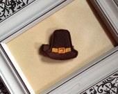 Pilgrim Hat Clippie Thanksgiving Hair Clip
