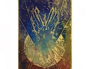 Angel. Large woodblock print, Unique Colour Variation1