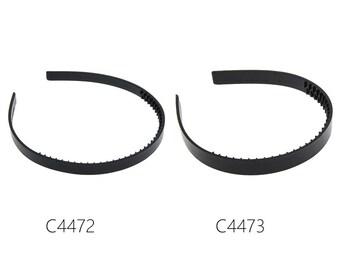 20PCS Black Plastic headbands Finding Women Accessories with teeth