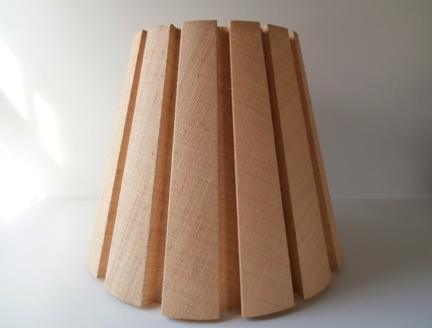 Large Lamp Shade Woven Flax Pleated Lamp Shade Yellow