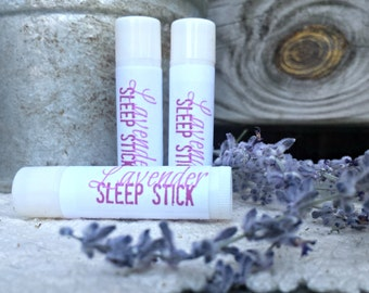 Lavender Vanilla Sleep Stick SET of 3 - Herbal Aromatherapy Balm/Salve for Relaxation