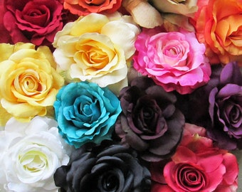 Silk Rose Hair Flower Clip & Pin - 13 Color Choices!
