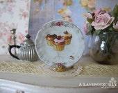 Cupcakeologie Plate for Dollhouse