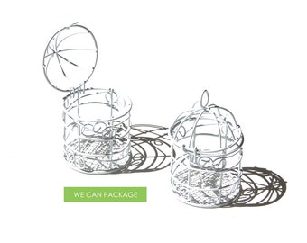 Small Bird Cages for Wedding Centerpieces Decoration 10pcs/pack