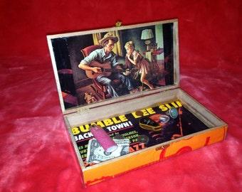 Rooster Blues Stash Box, One-of-a-Kind Grateful Dead Artwork