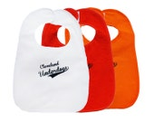 TerryCloth Bib with 'Cleveland Underdogs' Design (White, Red, or Orange)