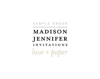 Madison Jennifer Sample Invitation Order