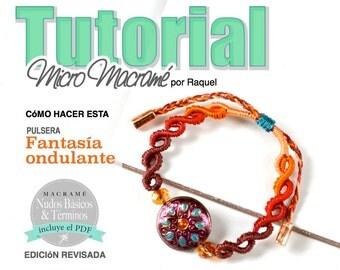 ESPAÑOL MicroMacrame Esquema Pulsera Olas Ondas Macrame Archivo PDF