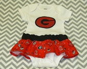 """Applique """"G"""" Onesie With a Skirt Made to Order"""