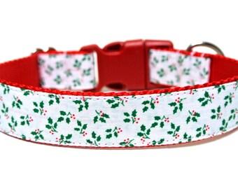 """Holiday Dog Collar 1"""" Christmas Dog Collar SIZE SMALL"""