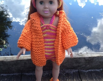 American Girl Doll Clothes, 18 inch doll, Swimsuit, Headband, Jacket and Anklet All Cotton Ready To Ship and CUSTOM ORDER
