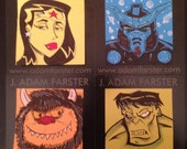 Custom commissioned post-it notes.