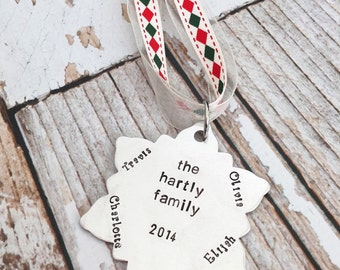 SALE Snowflake Ornament  | Christmas | family | Christmas gift | Christmas tree | Tree Ornament