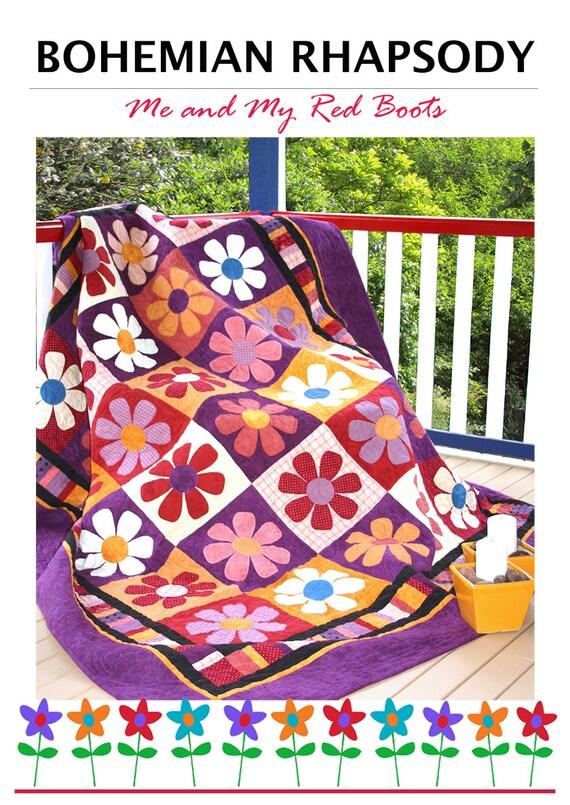 Bohemian Rhapsody Flower Quilt - PDF Quilt Pattern