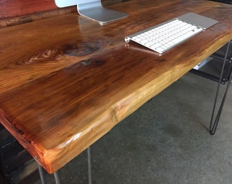 Sale!  Reclaimed Wood Desk - modern mid century, industrial, rustic