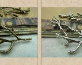 10 pcs 30x60mm antique bronze brass / silver large 3D trees branch with 8 loops connectors links charms pendants fc960159945
