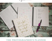 Photographer's Planner (Spiral Bound) - Monthly & Weekly Calendar, Client Database, Blogging Calendar, Workflow Charts and more!